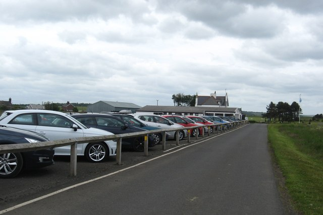 The car park at Goswick Golf Club in Northumberland