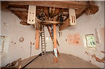 TM1678 : Billingford Mill - Meal floor by Ashley Dace