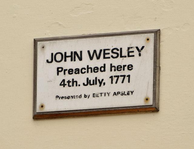John Wesley plaque, Larne