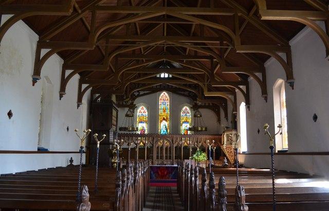 Interior, Christ church, Kilndown