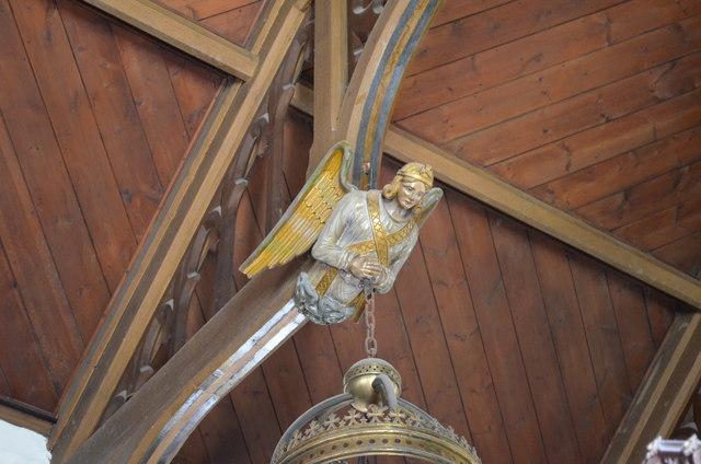 Carved Angel, Christchurch, Kilndown