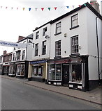 SO2956 : Two Forces Support shops in High Street, Kington by Jaggery