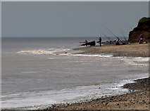 TA4115 : Anglers on Kilnsea Beach by Andy Beecroft