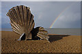 TM4657 : The Scallop, Aldeburgh by Ian Taylor