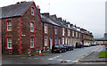 NY0336 : Terraced houses, Mill Street, Maryport (1887) by Julian Osley