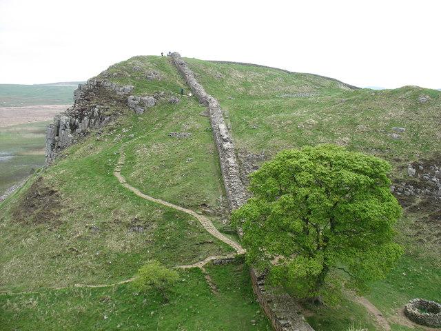 The Hadrian's Wall Path at Sycamore Gap