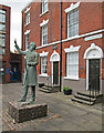 SK5839 : Sneinton: Notintone Place and statue of William Booth by John Sutton