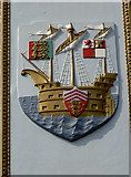 SY6879 : Clock Tower coat of arms by Neil Owen