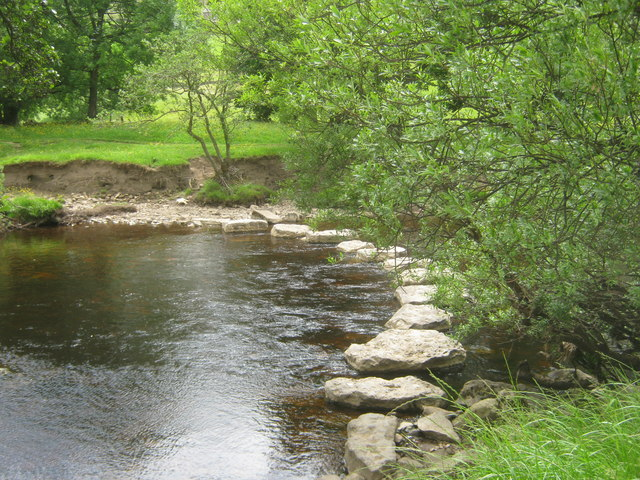 Stepping stones across the River Swale