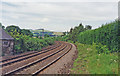 NY8867 : Site of Fourstones station, view west 1994 by Ben Brooksbank