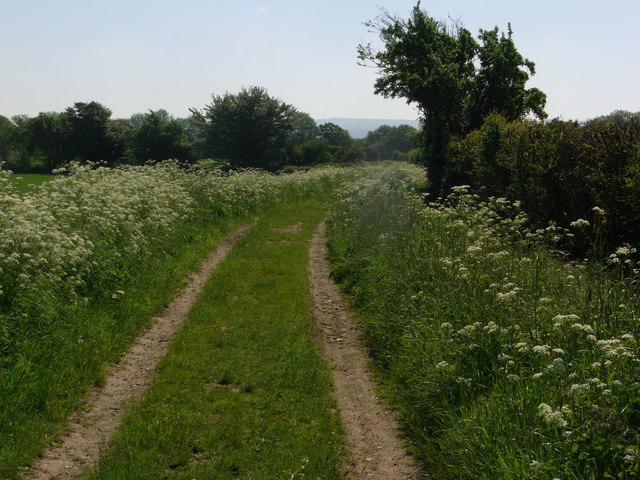 Track, now footpath, between Ashton-under-Hill and Sedgeberrow