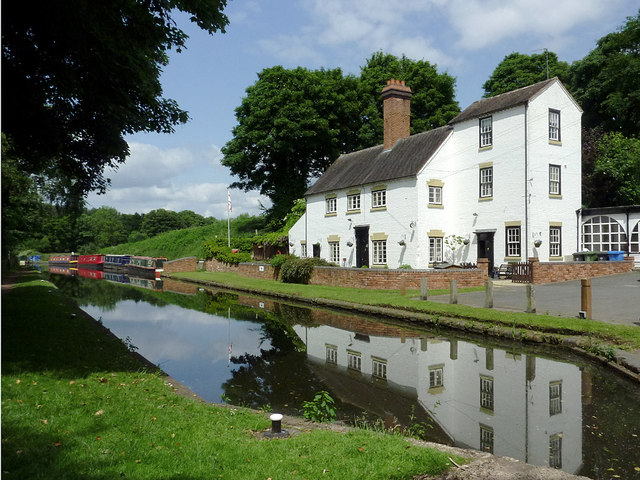 Canalside  houses at Stourton, Staffordshire