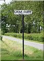TM3686 : Grove Farm sign by Adrian Cable