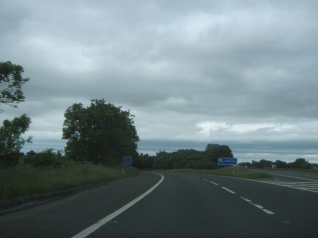 The A66(M) slip road off the A1(M) northbound
