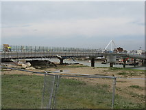 TQ2104 : New footbridge nearing completion by Dave Spicer