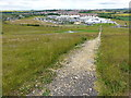NZ4046 : Dalton Park Shopping Centre from the Saddle by Clive Nicholson