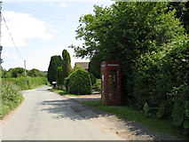 SO6462 : Telephone Box in Sweet Green by Peter Whatley