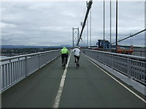 NT1279 : Cycling over the Forth Road Bridge by JThomas