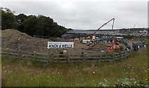 ST1599 : Work progressing on the new Aberbargoed Community Fire and Rescue Station by Jaggery