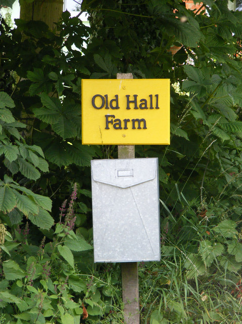 Old Hall Farm sign