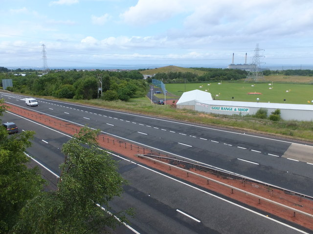 The A1 from the A198 bridge
