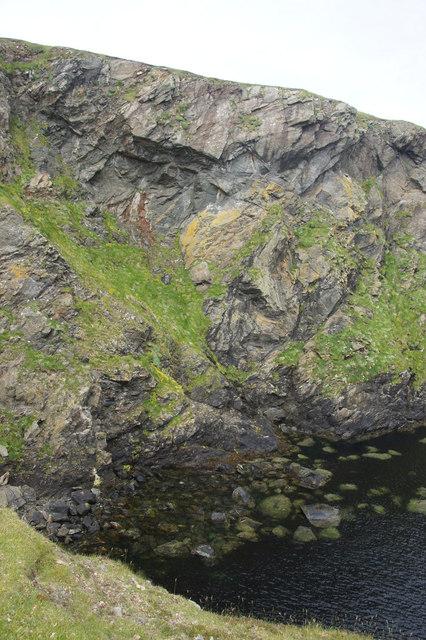 Cliffs at Freckles Geo, Blue Mull