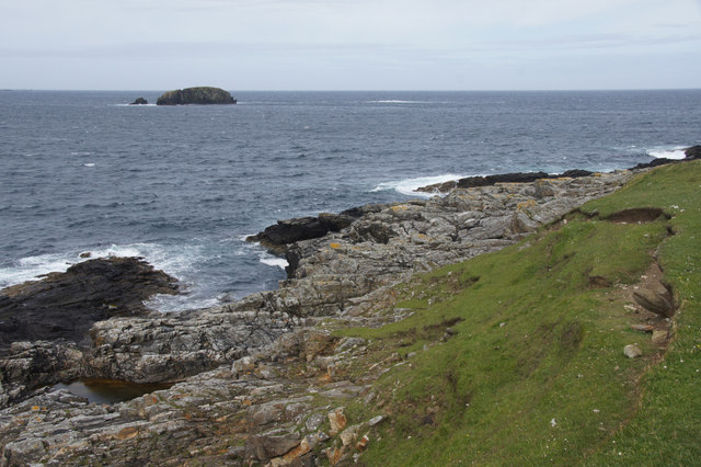 Looking towards the Vere from Houllnan Ness, Westing