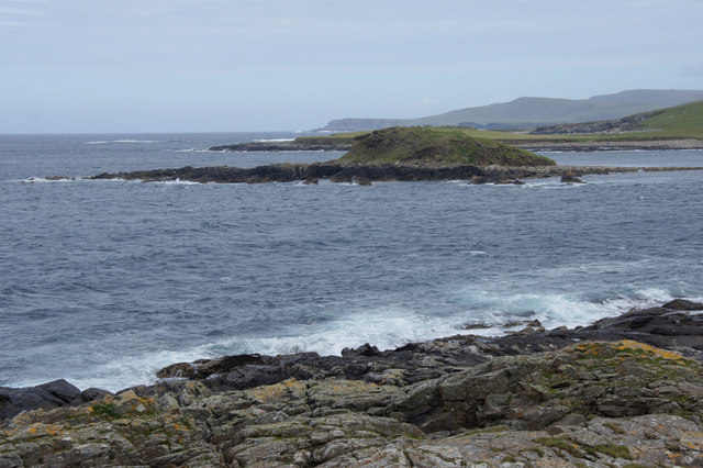 Brough Holm from Houllnan Ness, Westing