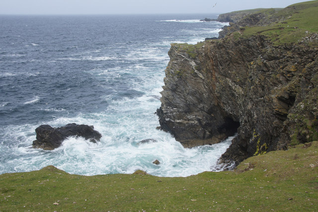 Cave between Ness of Collaster and Bogligarths, Westing