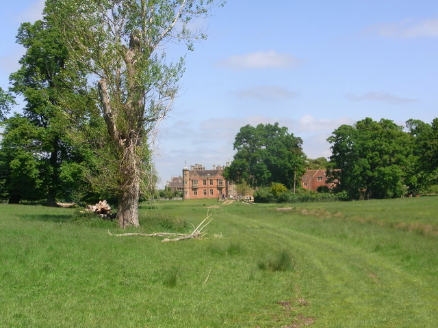 View across Charlecote Park to the House