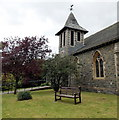 SO0561 : Bell tower and weather vane, Holy Trinity, Llandrindod Wells by Jaggery