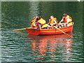 "TQ1877 : Children enjoy the ""Tutti Frutti Boating Experience"" at Kew by David Hawgood"
