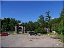 NS3586 : Gates to Rossdhu House by Elliott Simpson