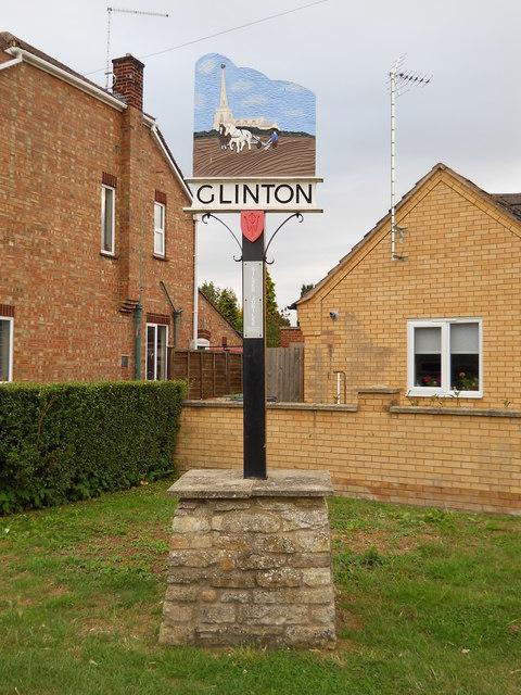 Village sign, Glinton