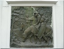 NT4728 : Mungo Park Monument relief by kim traynor