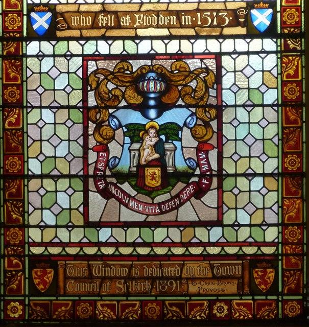 Flodden window detail, Town Hall