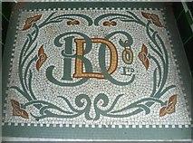 NT4728 : Shop doorway mosaic, High Street by kim traynor