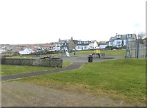 NS2515 : Play area at Dunure by Ann Cook