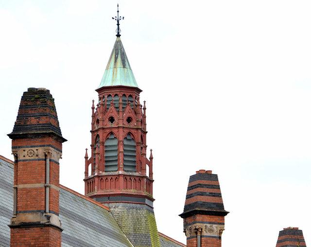 Lantern and chimneys, Queen's University, Belfast