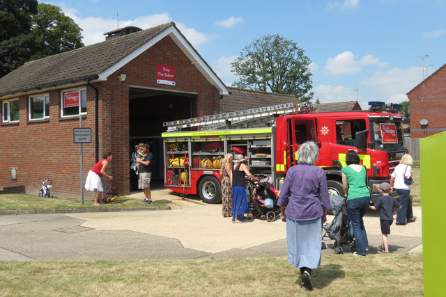 Viewing the Fire Engine at Tring Fire Station