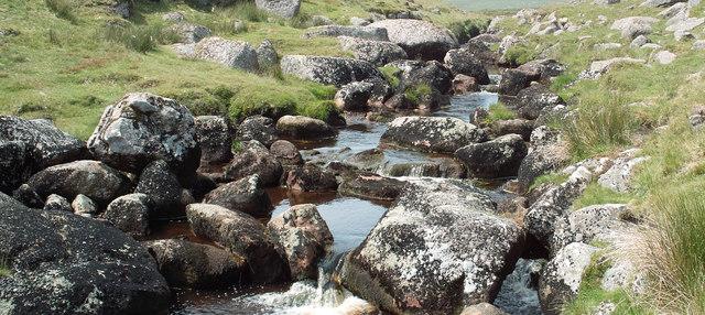Boulders in East Dart River