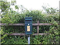 SS4991 : Re-cycled letter box by John Haynes