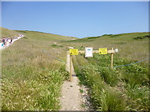 SY8080 : Durdle Door, closed footpath by Mike Faherty