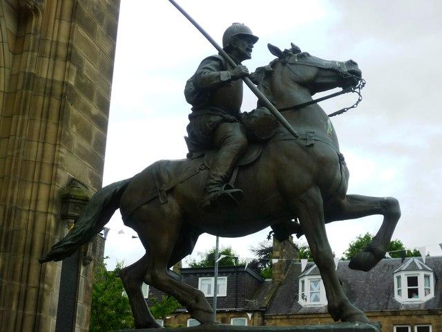 Border reiver statue