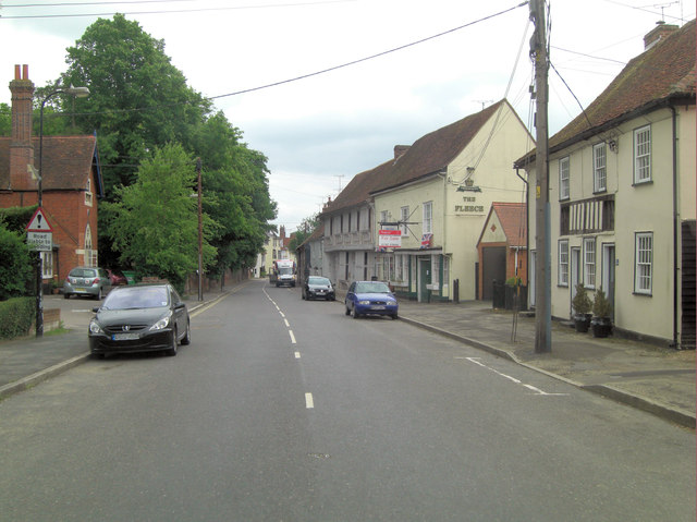 West Street passes The Fleece