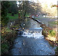 SO8405 : Weir and waterfowl, Stratford Park, Stroud by Jaggery