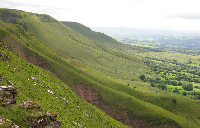 The northern edge of the Black Mountains