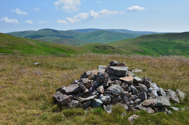 The Cheviot from Grubbit Law summit