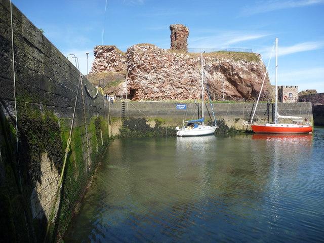 Coastal East Lothian : A View Towards The Visitors' Berth, Victoria Harbour, Dunbar