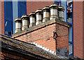 J3373 : Disused chimneys, Belfast by Albert Bridge